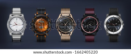realistic wrist watches 3d