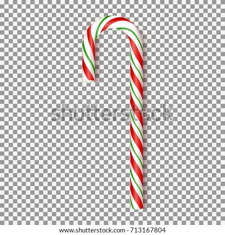 realistic xmas candy cane