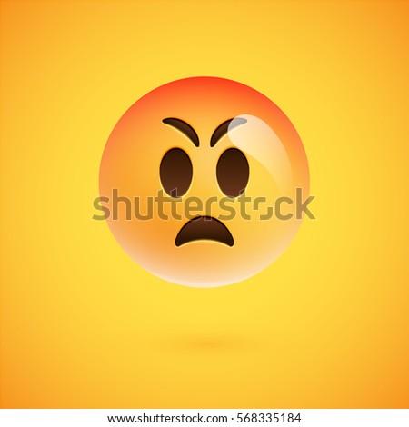 realistic yellow emoticon in