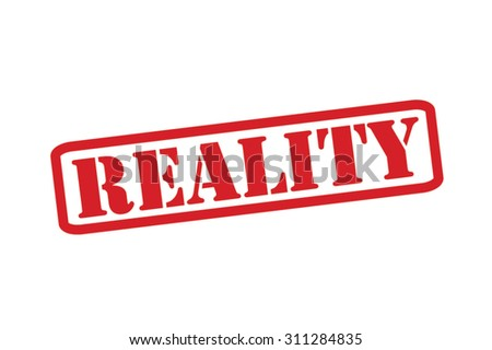 reality red rubber stamp vector