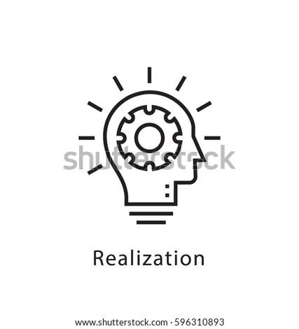 realization vector line icon