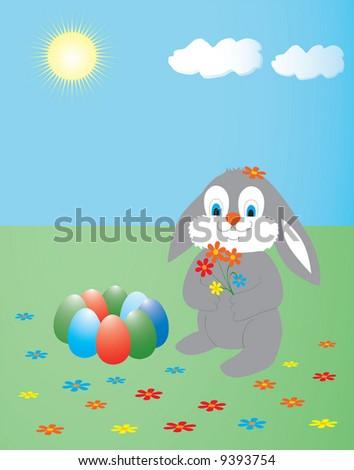 easter bunny clipart. cute easter bunny clipart.