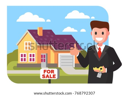 realtor shows the house for