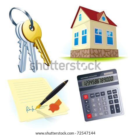 Realty vector icons.