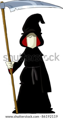 Reaper on a white background, vector illustration