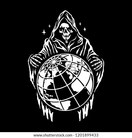 reaper stands over the planet