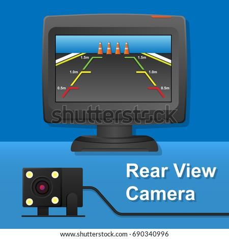 rear view camera video recorder