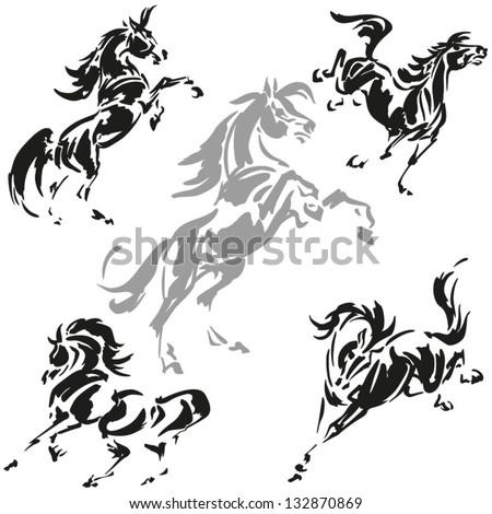 pin rearing horse tattoo designs tattoos on pinterest. Black Bedroom Furniture Sets. Home Design Ideas