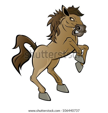 Horse Cartoon rearing horse cartoon