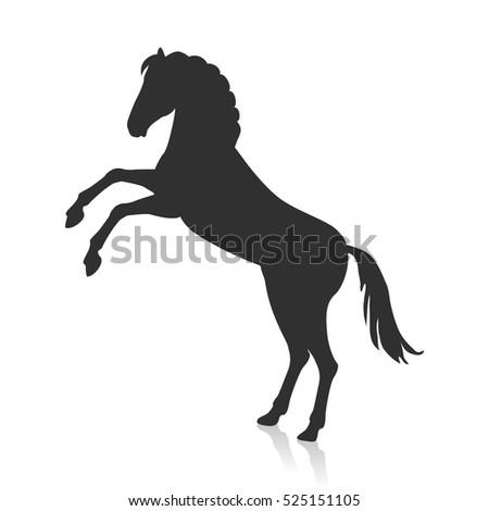 royaltyfree horse reared silhouette vector 260869475