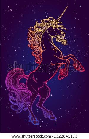 rearing up unicorn fantasy