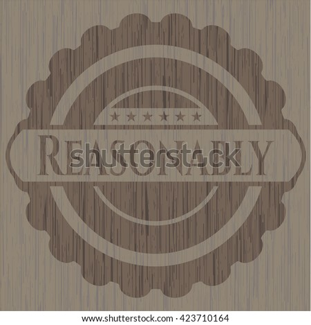 Reasonably wood icon or emblem