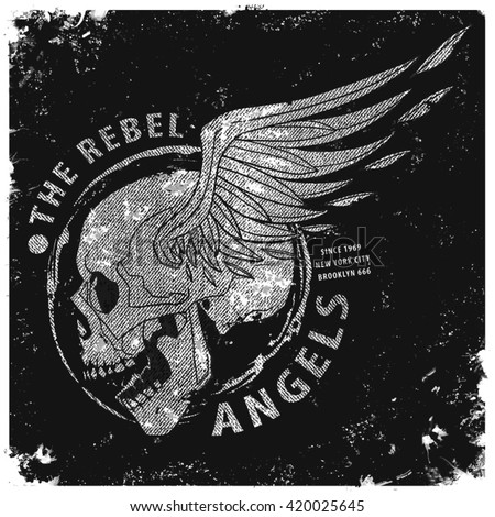 rebel angels t shirt graphic
