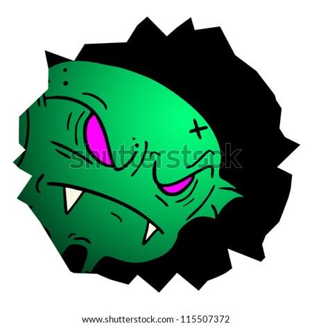Rebel green monster Stock photo ©