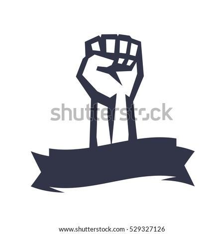 rebel  revolt symbol  fist held