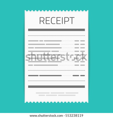 receipt icon in a flat style...