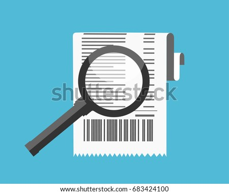 Super Shuttle Receipt Word Free Vector Invoice Concept  Download Free Vector Art Stock  Email Return Receipt Excel with How To Format An Invoice Receipt Icon Paper Invoice And Magnifying Glass Total Bill Illustration  In Flat Style Invoice Temlate