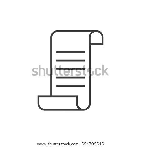 receipt icon. sign design
