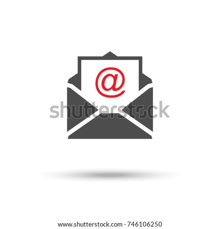 Receive email icon. Vector illustration.