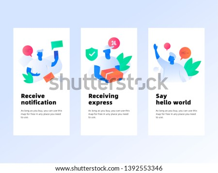 Received information Received Express Say hello Received information, received courier, courier, postal Easy work business vector flat trend illustration.eps