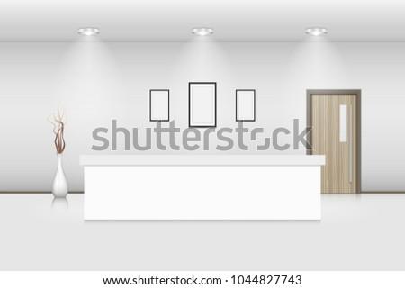 reception counter and interior