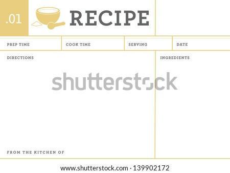 Recipe Card Collection Recipe Card Kitchen Note
