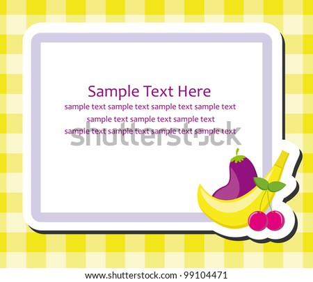 Free Recipe Card with Food Pattern Vector - Download Free Vector Art ...