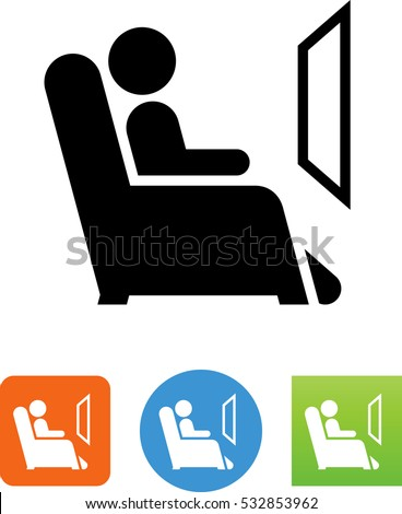 reclining chair icon
