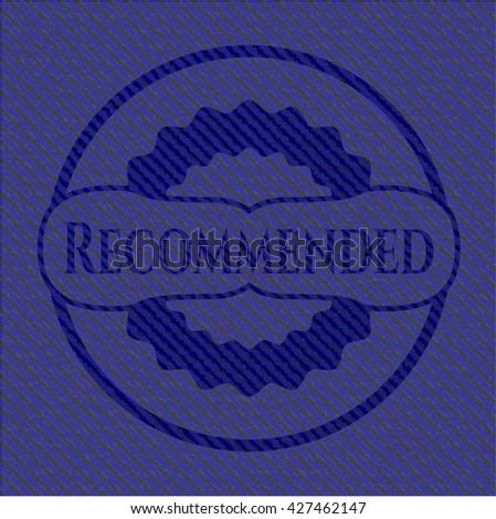 Recommended jean or denim emblem or badge background