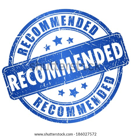 Recommended vector stamp Recommendation Stamp