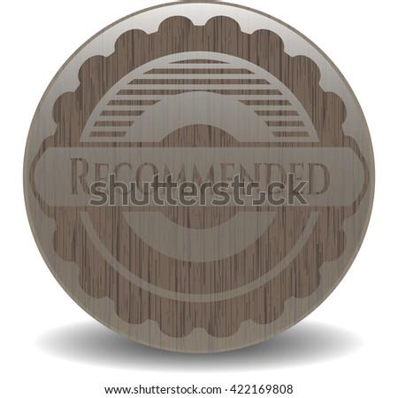 Recommended vintage wooden emblem