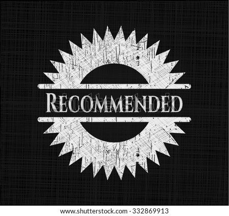 Recommended written with chalkboard texture