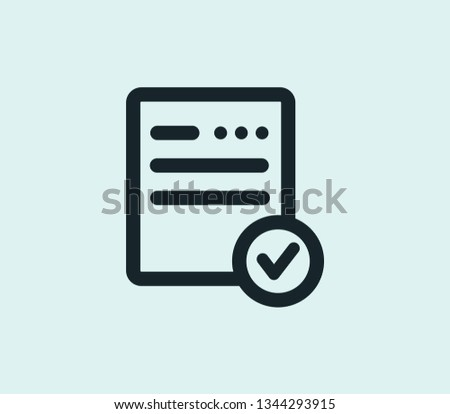 Record keeping icon line isolated on clean background. Record keeping icon concept drawing icon line in modern style. Vector illustration for your web mobile logo app UI design.