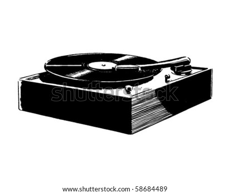 Record Player - Retro Clip Art