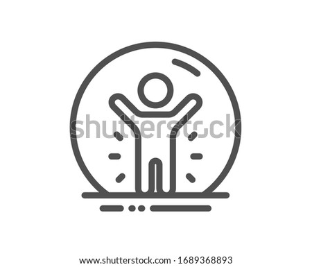 Recovered person line icon. Coronavirus pandemic sign. Covid-19 quarantine symbol. Quality design element. Editable stroke. Linear style recovered person icon. Vector Photo stock ©