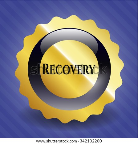 Recovery golden emblem or badge