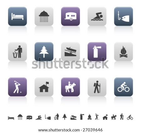 recreation and camping pictograms (2 of 3)