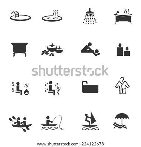 Recreation and spa icons
