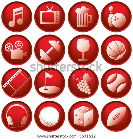 Recreation Icon Buttons