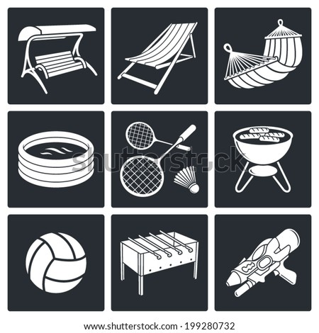 Recreation icon set