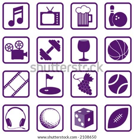Recreation Icons - Vector