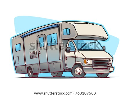 Recreation Vehicle cartoon illustration