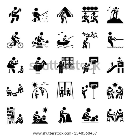 Recreational activities solid icons pack is portraying visuals with attractive designing. Editable vectors are worth grabbing and here for your. Enjoy downloading