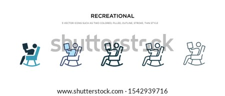 recreational icon in different style vector illustration. two colored and black recreational vector icons designed in filled, outline, line and stroke style can be used for web, mobile, ui