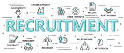 Recruitment Process Flat Background