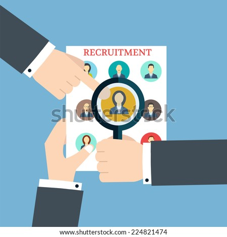 Recruitment. Searching The Profile. Human recruitment and  resource