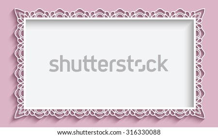 Free swirly scroll frame and border vectors download free vector rectangle frame with paper lace border ornament vintage vector background greeting card or wedding stopboris Image collections