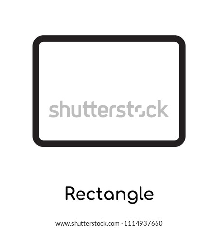 Rectangle icon vector isolated on white background for your web and mobile app design, Rectangle logo concept, outline symbol, linear sign