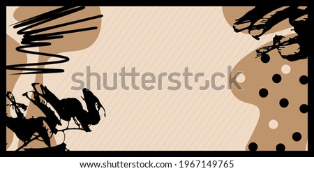Rectangle pattern with beige and black shape background. Modern art design for artsy background or hijab scarf and foulard pattern.Abstract vector. Hijab scarf, foulard, shawl or carpet pattern Photo stock ©
