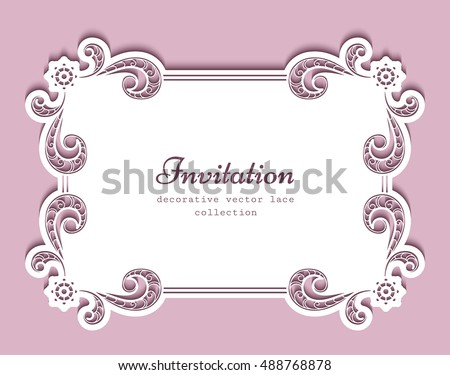 free vector square and border doily download free vector art